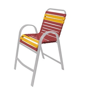 W7778 - Windward Anna Maria Aluminum Vinyl Strap Balcony Chair