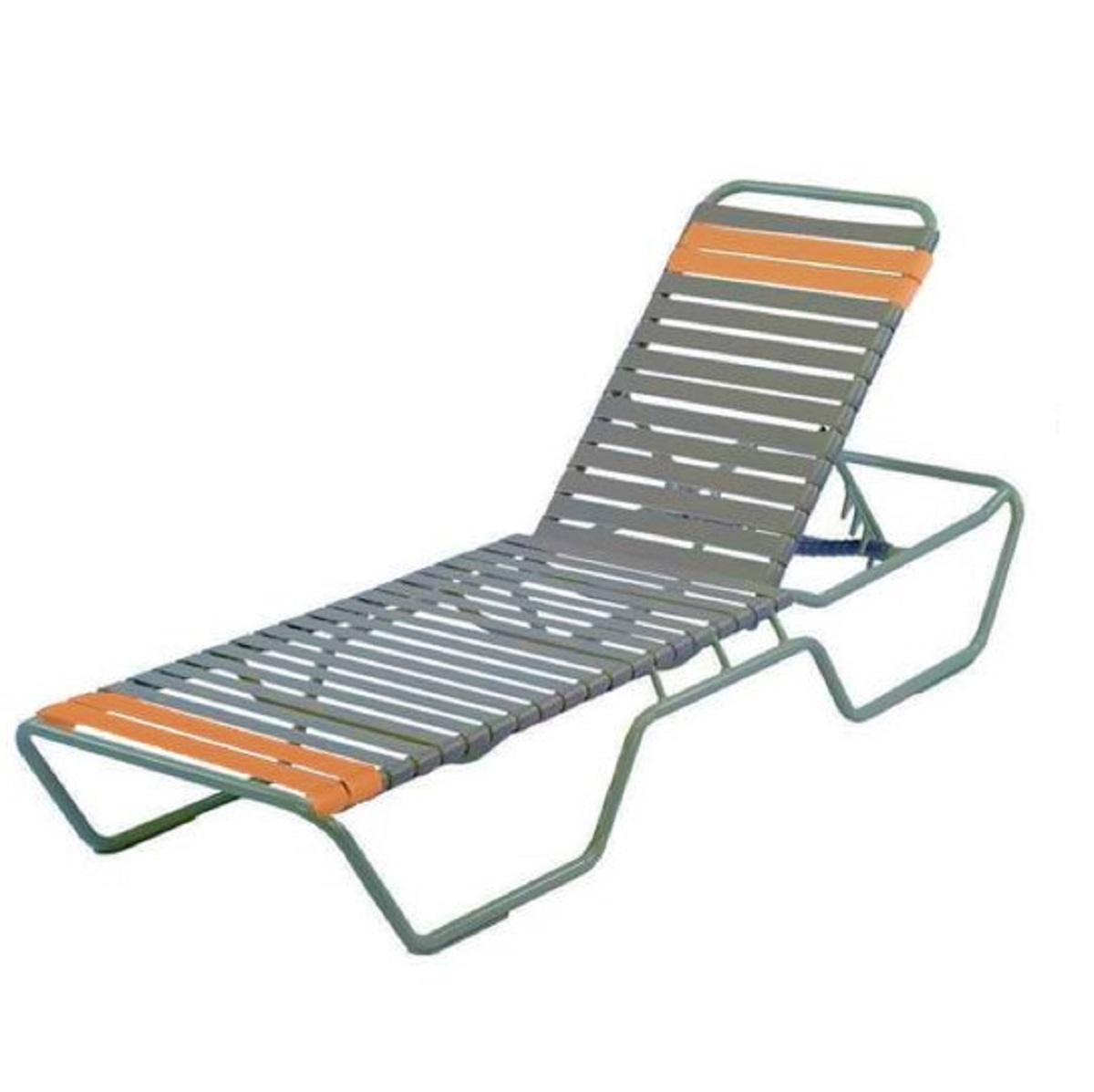 Country Club Beach Concession vinyl strap Chaise Lounge