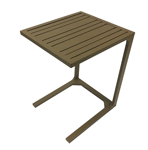 WT25W90 - Lido Aluminum Side Table