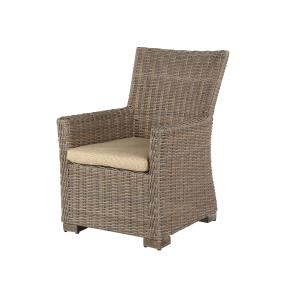 Oxford Resin Wicker Cushion Dining Arm Chair
