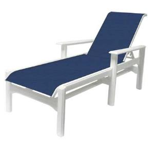 Cape Cod Sling Comfort Height Chaise Lounge with Arms