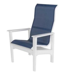 Cape Cod Sling Comfort Height High Back Dining Arm Chair