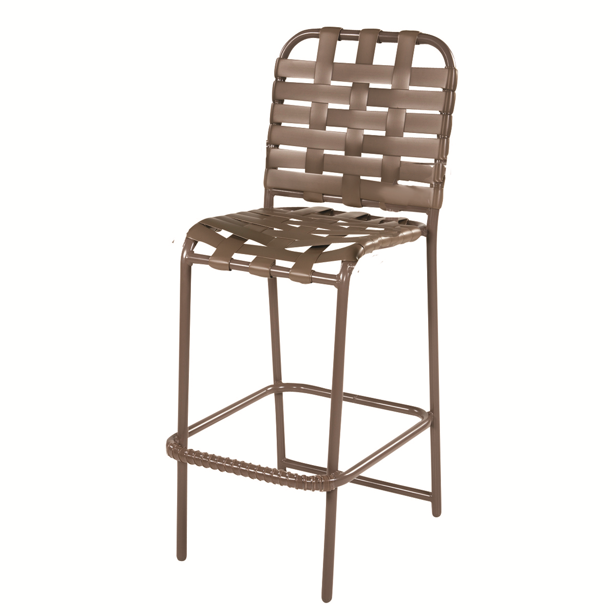 Windward Country Club Cross Weave Aluminum Bar Chair Most