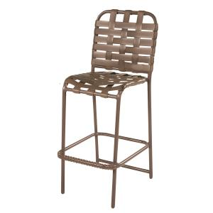 Country Club Aluminum Crossweave Vinyl Strap Bar Stool w/o Arms