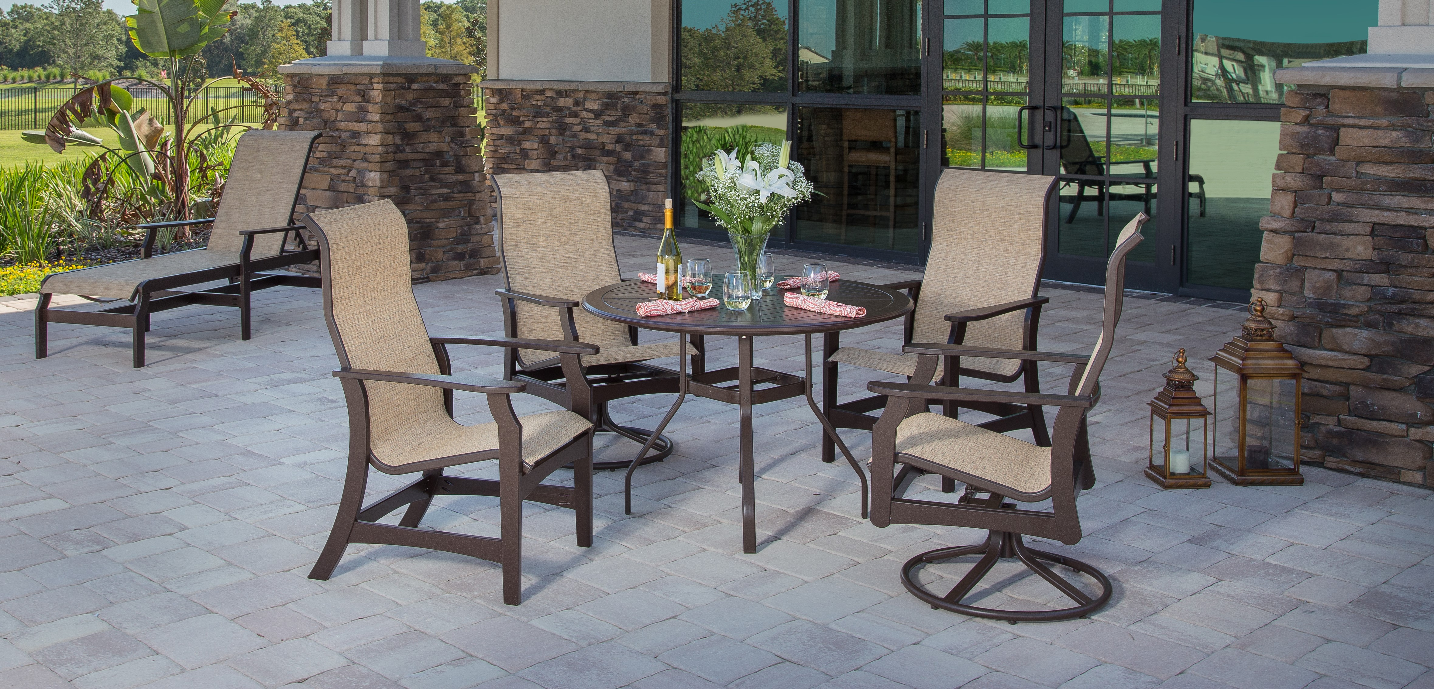 Covina Sling Arm Chair