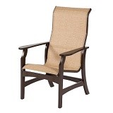 W5850HB - Covina Sling High Back Dining Arm Chair