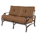 W80255 - Eclipse Aluminum Deep Seating Loveseat