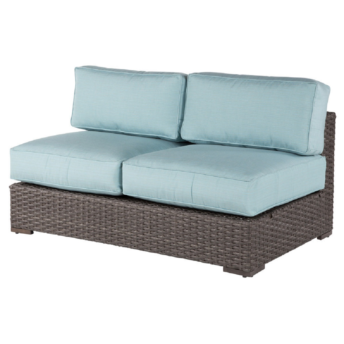Georgia Wicker Armless Loveseat