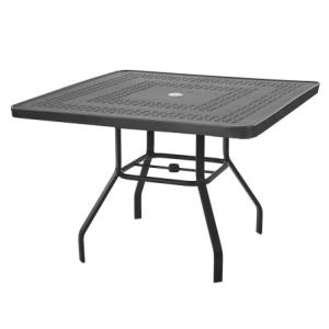 Mayan 42 in. Square Aluminum Dining Table - Punched Metal