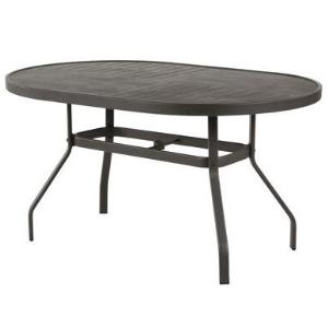 Windward Napa Punched Metal Oval Dining Table