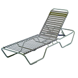 BEACH1003 - Country Club Beach Concession vinyl strap Chaise Lounge