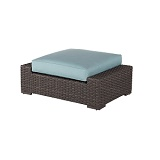 W4314-WW - Georgia Wicker Ottoman